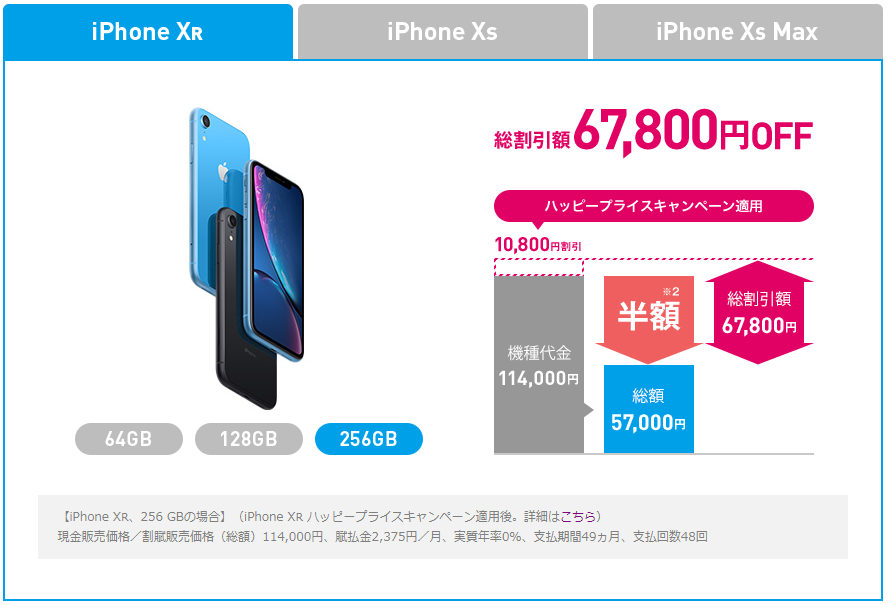 iPhone XRが半額!ソフトバンクの割引キャンペーン