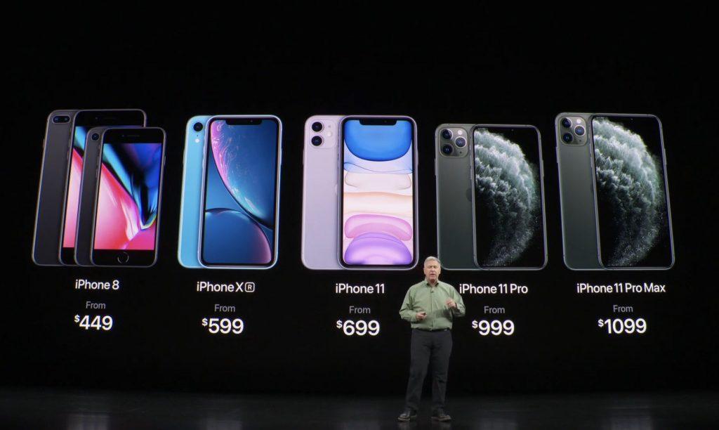 iPhone 11/11 Pro 正面デザイン