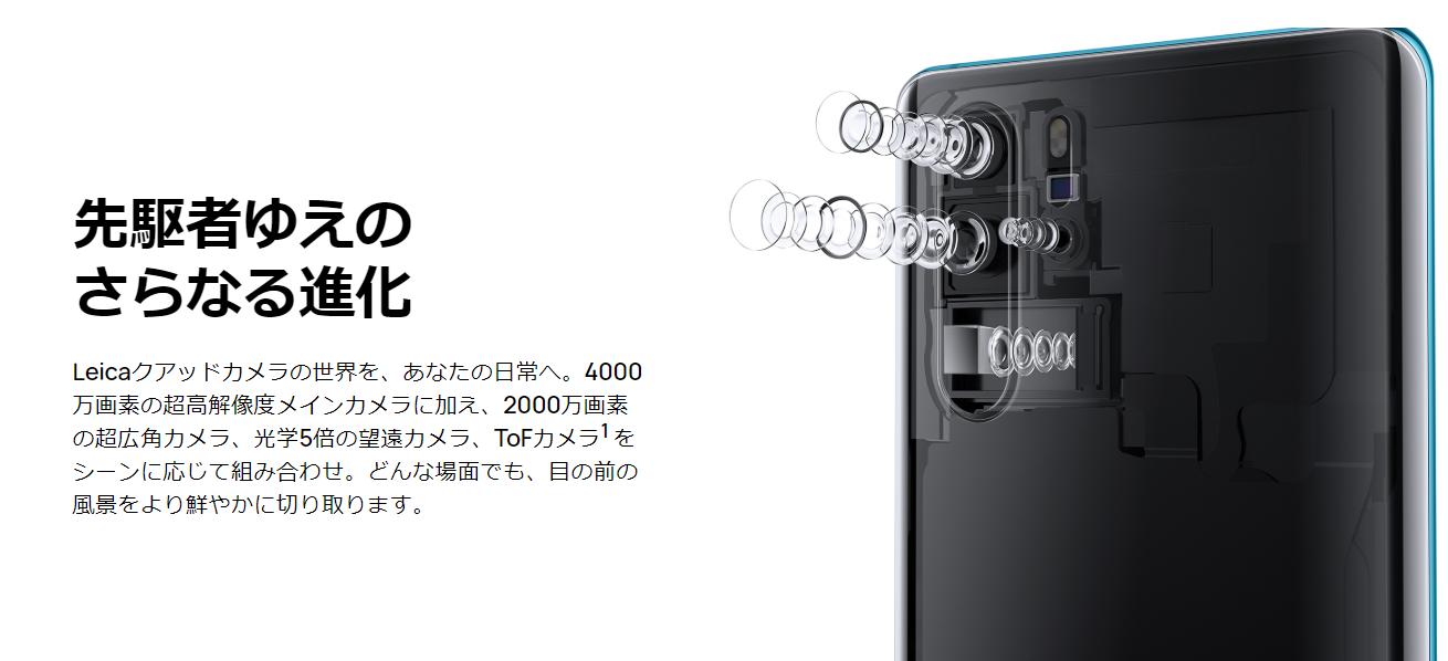 HUAWEI P30 Pro カメラ